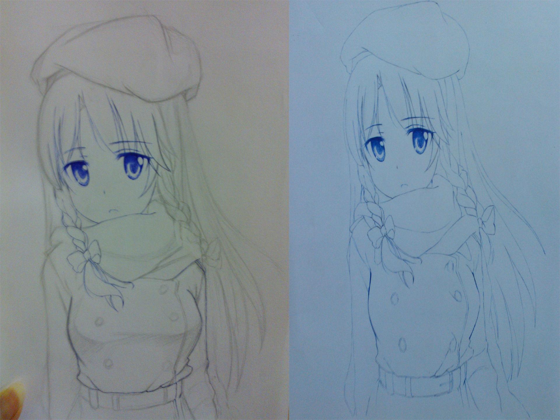 【手绘】有胸的妹纸!