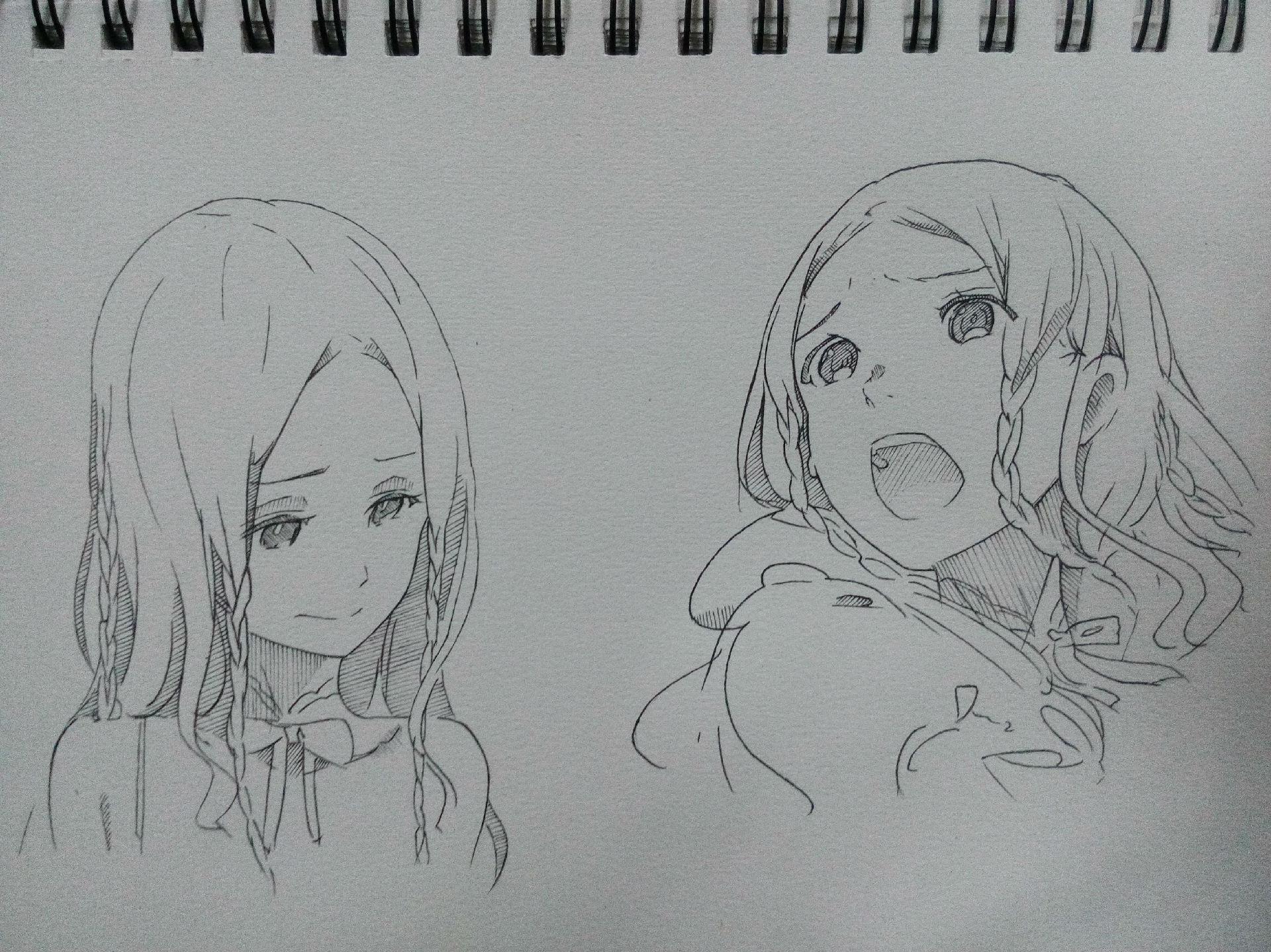 【手绘】胸大的妹纸(二)