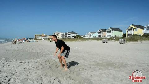 沙滩篮球训练2!腿部力量、脚步移动训练 - AcF