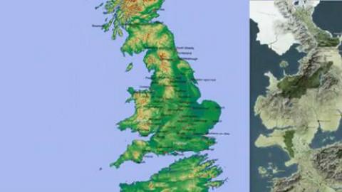 权力的游戏地图原来是英国