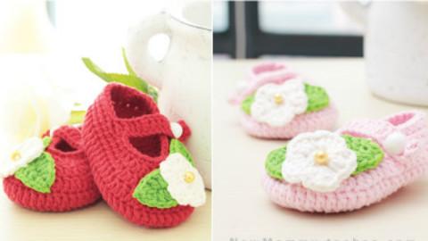 [多图]钩织宝宝鞋子---有图解