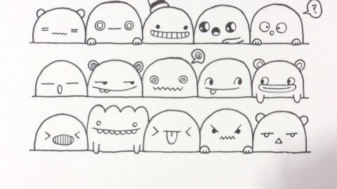 幼儿园香蕉简笔画表情